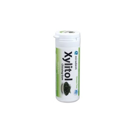 Xylitol chewing gum green tea miradent