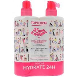 Topicrem Lait hydratant duopack 2x500ml