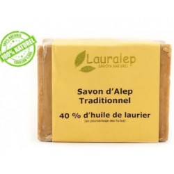 Lauralep savon d'Alep traditionnel 40%huile de laurier 200g