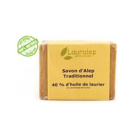 Lauralep savon d'Alep traditionnel 40%huile de laurier 200g