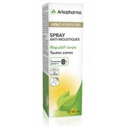 arko essentiel spray repulsif anti-moustiques corps 60ml