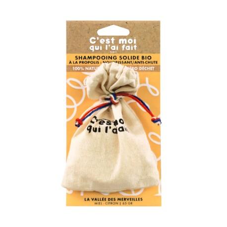 Shampooing solide bio à la propolis ,nourrissant, anti-chute