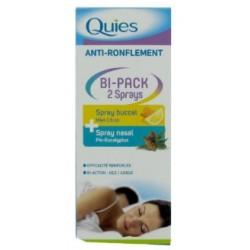 Quies anti ronflement bi pack 2 sprays nasal/buccal