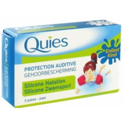 Quies protection auditive natation silicone enfant