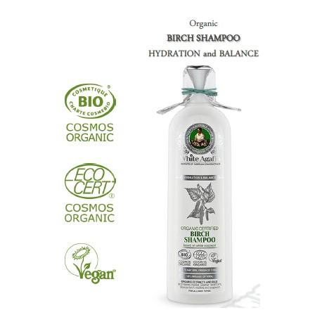 White Agafia shampoing au bouleau 280ml